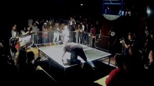 Guy Trips Onto Stage Entering Rap Battle @ The Jump Off