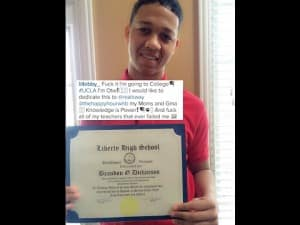 Lil Bibby Posts up His Graduation Certificate After Going Back to Complete High School.