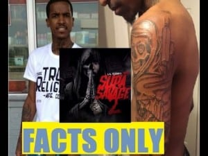 """Lil Reese Tattoos a Nickname """"Grim Reaper""""  that DJ Akademiks Gave Him Then Gets Mad About it."""