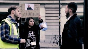 British Kanye West Fans try to raise money for Kanye on the streets of London
