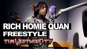 Rich Homie Quan freestyles over Bryson Tiller, Gucci, 2Pac & Nas – Westwood