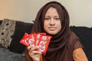 Saima found eight bars of KitKat without wafer inside