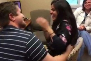 Boyfriend Chooses Interesting First Words For Deaf Girlfriend To Hear