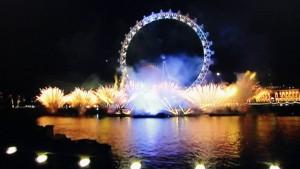 New Years Fireworks 2016 LONDON UK