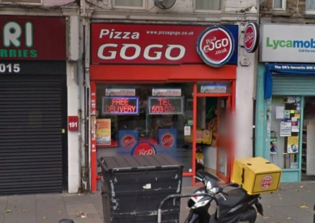 "The Pizza GoGo takeaway in Leytonstone Road, Stratford, which is offering a deluxe £500 ""Gold Pizza"" Picture: Google Maps"