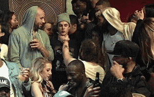 Justin Bieber gets choked out by Post Malone for ashing a cigarette on him!!