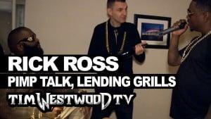 Rick Ross – lending grills & pimp talk – Westwood
