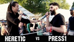 Rap Battle Heretic vs Press1 @ Love Saves The Day Music Festival