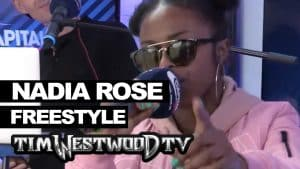 Nadia Rose freestyle backstage at Wireless – Westwood