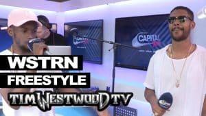 WSTRN freestyle backstage at Wireless – Westwood