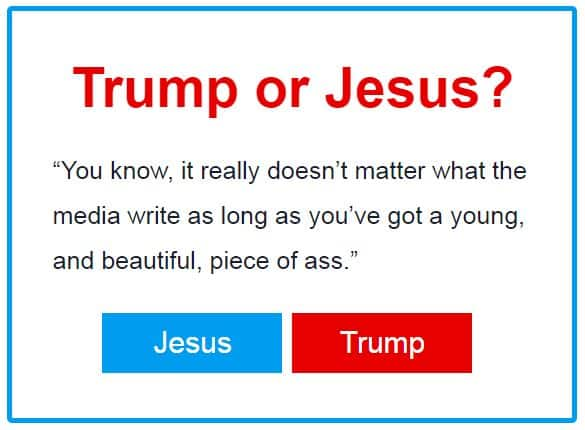 Trump or Jesus
