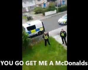 Wanted man live streams stand off with the Police