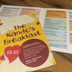 Nandos has a breakfast menu