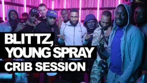 Blittz, Young Spray freestyle – Crib Session