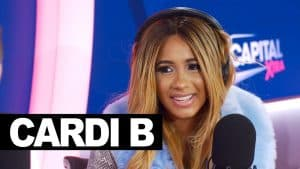 Cardi B in London talking her body count, Offset, dark chocolate & hair