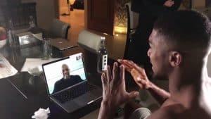 Dr Dre Sends Anthony Joshua Good Luck Message via Skype   @Block23Ent #UKENT
