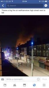 Fire in Walthamstow at a Shisha Lounge #Walthamstowfire