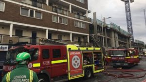 Teenage girl jumps to her death trying to escape London fire