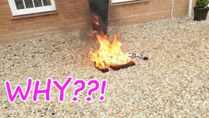 MY DAD BURNT MY CLOTHES!!!!