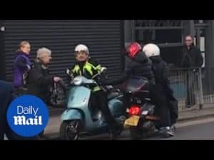 80-year-old comes to the rescue of a scooter rider being robbed – Daily Mail