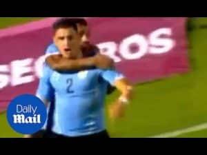 Archive: Jose Maria Gimenez scores for Uruguay vs Costa Rica – Daily Mail