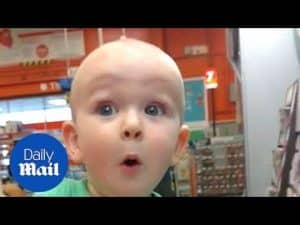 Boy delighted and amazed by colour swatches – Daily Mail