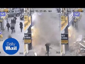 CCTV captures moment roof collapse on busy London pavement – Daily Mail