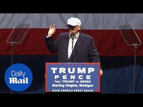 Clinton protected by 'rigged system': Trump at 2016 rally – Daily Mail