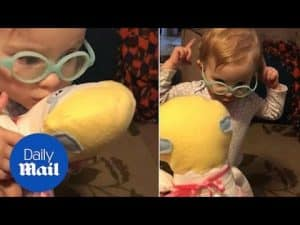 Deaf baby receives a mini me doll with cochlear implants – Daily Mail