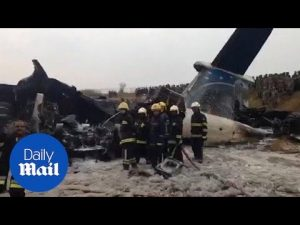 Emergency services at Kathmandu airport where plane crashed – Daily Mail