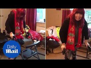Joyful moment woman paralysed by meningitis at 19 walks once again – Daily Mail