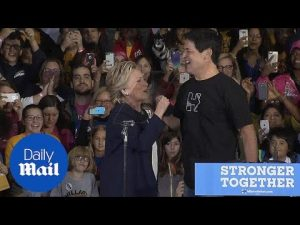 Mark Cuban joins Hillary Clinton at Pittsburgh campaign rally – Daily Mail