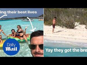 Olivia Culpo, Devon Windsor & Danny Amendola in the tropics – Daily Mail