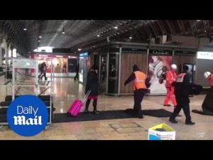 Paddington passenger walks on non-slip path as its being laid – Daily Mail