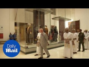 Prince Charles takes a look round National Museum in Muscat – Daily Mail