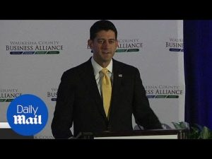 Ryan spoke today and bemoaned the lack of focus on issues – Daily Mail