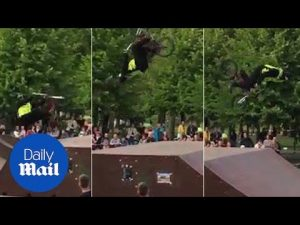 Security guard somersaults his way into stunt competition – Daily Mail