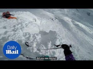 Skier buried in avalanche films his rescue on his Go Pro – Daily Mail