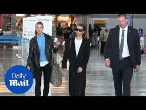 Stylish traveller Alicia Vikander lands JFK in black wool coat – Daily Mail