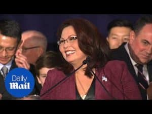 Tammy Duckworth talks to her supporters after her senate win – Daily Mail