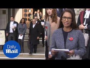 'This is about process not politics': Gina Miller's victory speech – Daily Mail