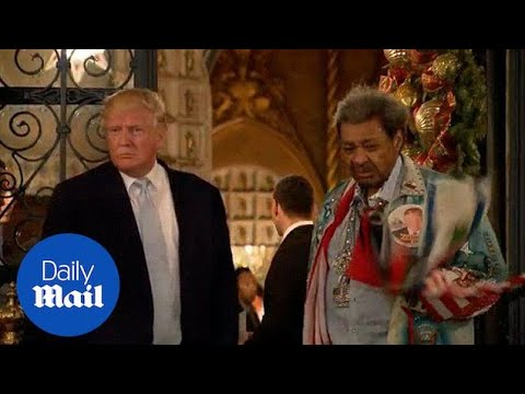 Trump answers questions with Don King at his Mar-a-Lago estate – Daily Mail