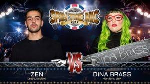 Zen vs Dina Brass Full Battle   Spin The Mic 2017