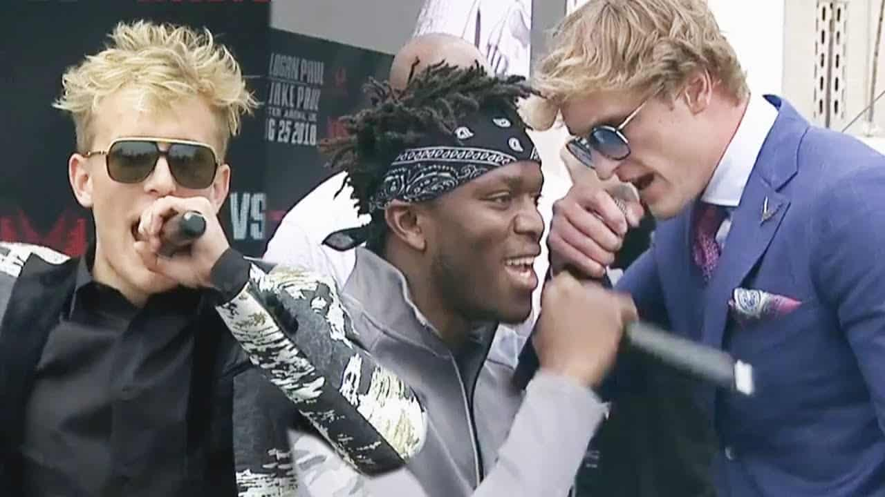 KSI and Logan Paul BRAWL at Press Conference! Jake Paul and Deji Face Off