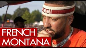 French Montana fresh off stage at Wireless