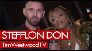 Stefflon Don on Lil Kim, Tory Lanez, QC, backstage at Krept & Konan show. Westwood