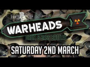 Don't Flop | Warheads – Drum & Bass Battles | Video Flyer