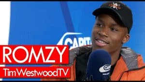 Romzy on Tracky & Sliders, Woolwich, Crib Session, Bottles Get Popped, new project – Westwood