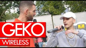 Geko on new project, Manny, working with NSG – backstage at Wireless