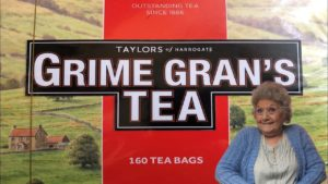 GRIME GRAN VISITS YORKSHIRE TEA